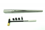 Ring Mandrel, Solid Steel with a Groove + Jewellers Hammer with 6 heads. J1289